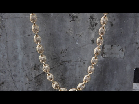 14K Gold CZ Gucci Link Chain | Hip Hop Jewelry | King Ice
