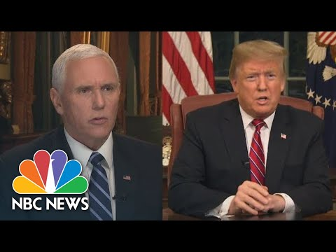 See How Many Times Pence And Trump Call Immigration A Crisis | NBC News