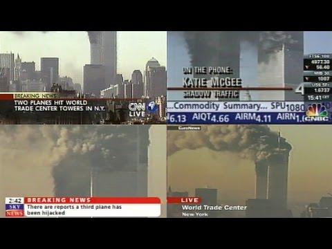Astra 19 2ºE - CNN International / CNBC Europe / Sky News / Euronews - 9/11  Attacks - 11 09 2001