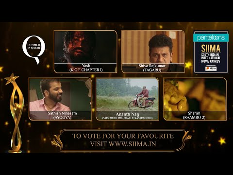Pantaloons SIIMA 2019 | Best Actor In A Leading Role | Kannada