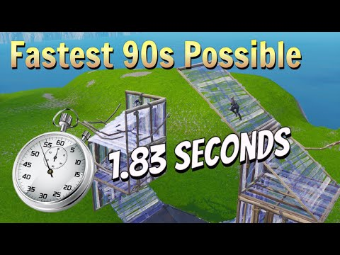 The NEW Fastest 90s In Fortnite...