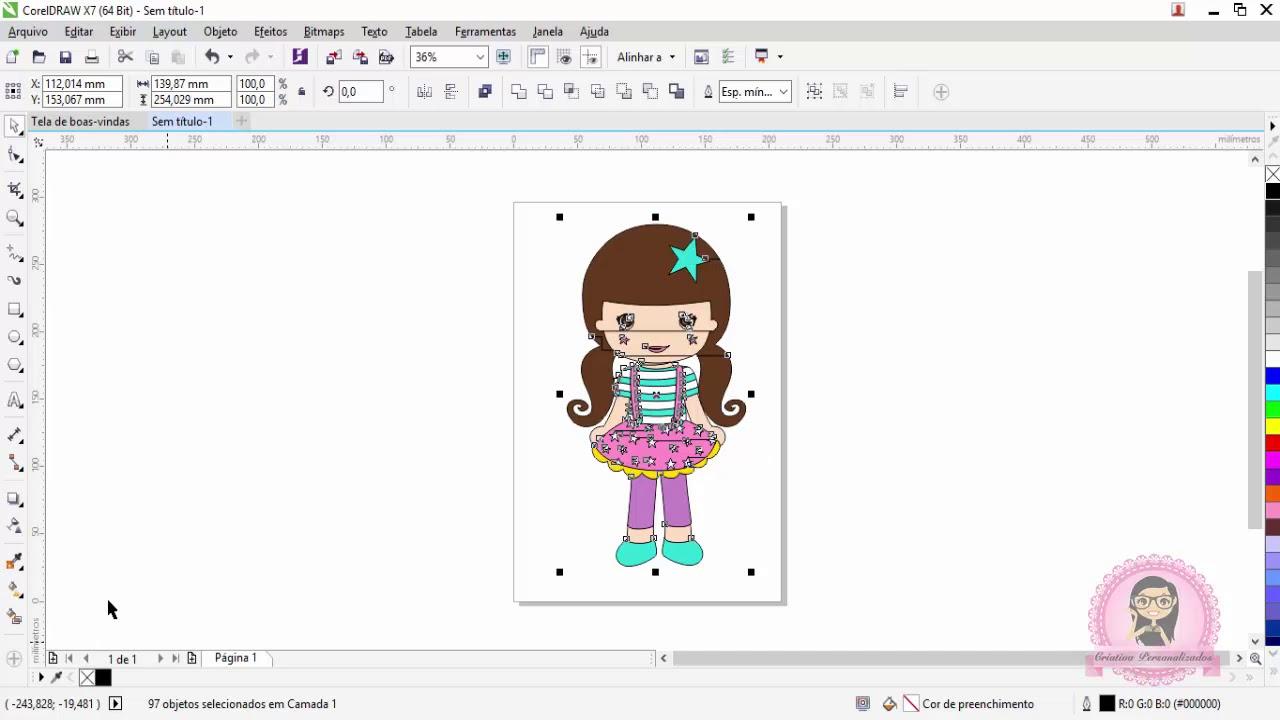 Como Criar Desenhos Para Revista De Colorir Coreldraw Youtube