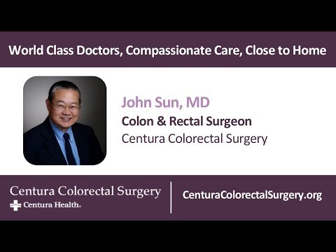 John Sun, MD│Centura Colorectal Surgery│Parker Adventist Hospital