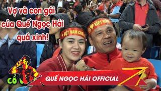Gia đình Sunny rực rỡ trên khán đài, cổ vũ bố Hải trước Thái Lan | Quế Ngọc Hải FC