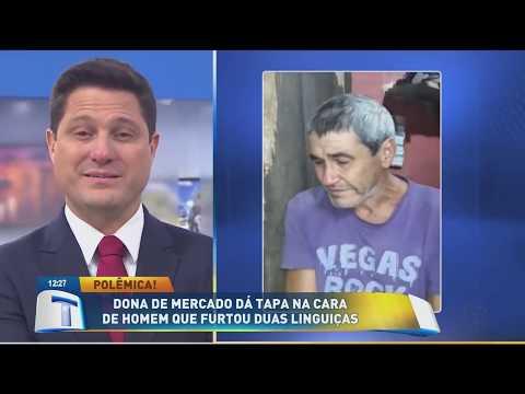 Dona de mercado dá tapa na cara de homem que furtou linguiças - Tribuna Da Massa (27/03/19)