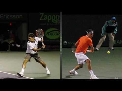 A 360 degree view of Roger Federer's Backhand