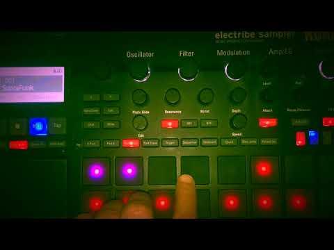 SupraFonk live jam with Korg Electribe Sampler 2