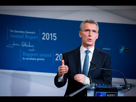 Opening remarks by the NATO Secretary General Jens Stoltenberg at the launch of his Annual Report for 2015, Jan. 28, 2016.