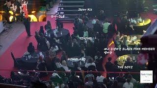 Black Pink, Stray Kids, MOMOLAND, IZ*ONE, (G) I-DLE, The Boyz Reaction to JENNIE Stage 4K 190123