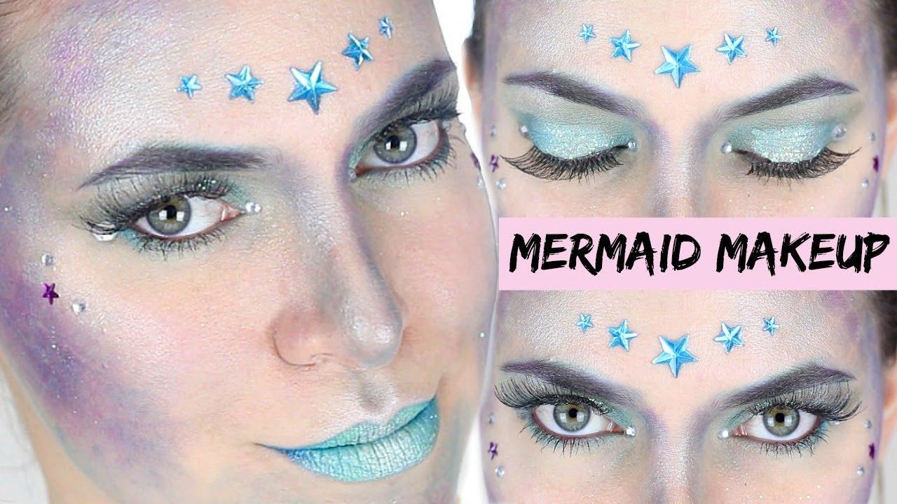 mermaid makeup meerjungfrau schminken karneval pia pietsch youtube. Black Bedroom Furniture Sets. Home Design Ideas