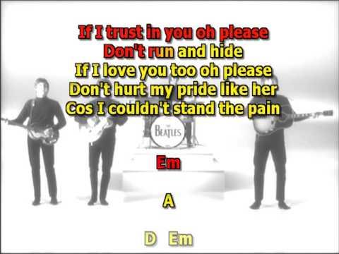 If I fell Beatles best karaoke instrumental lyrics chords - YouTube