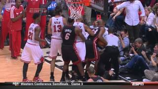 Repeat youtube video Joakim Noah pushes Birdman  after hard foul on Nate Robinson Heat-Bulls Game 3