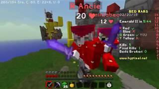 Minecraft Bedwars. First win!