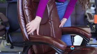 Обзор кресла руководителя Comfort с благородным дизайном из коричневой искусственной кожи