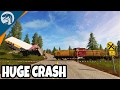 BIGGEST TRAIN WRECK EVER, 150+ TRUCKS WRECKED | Farming Simulator 17 Multiplayer Gameplay