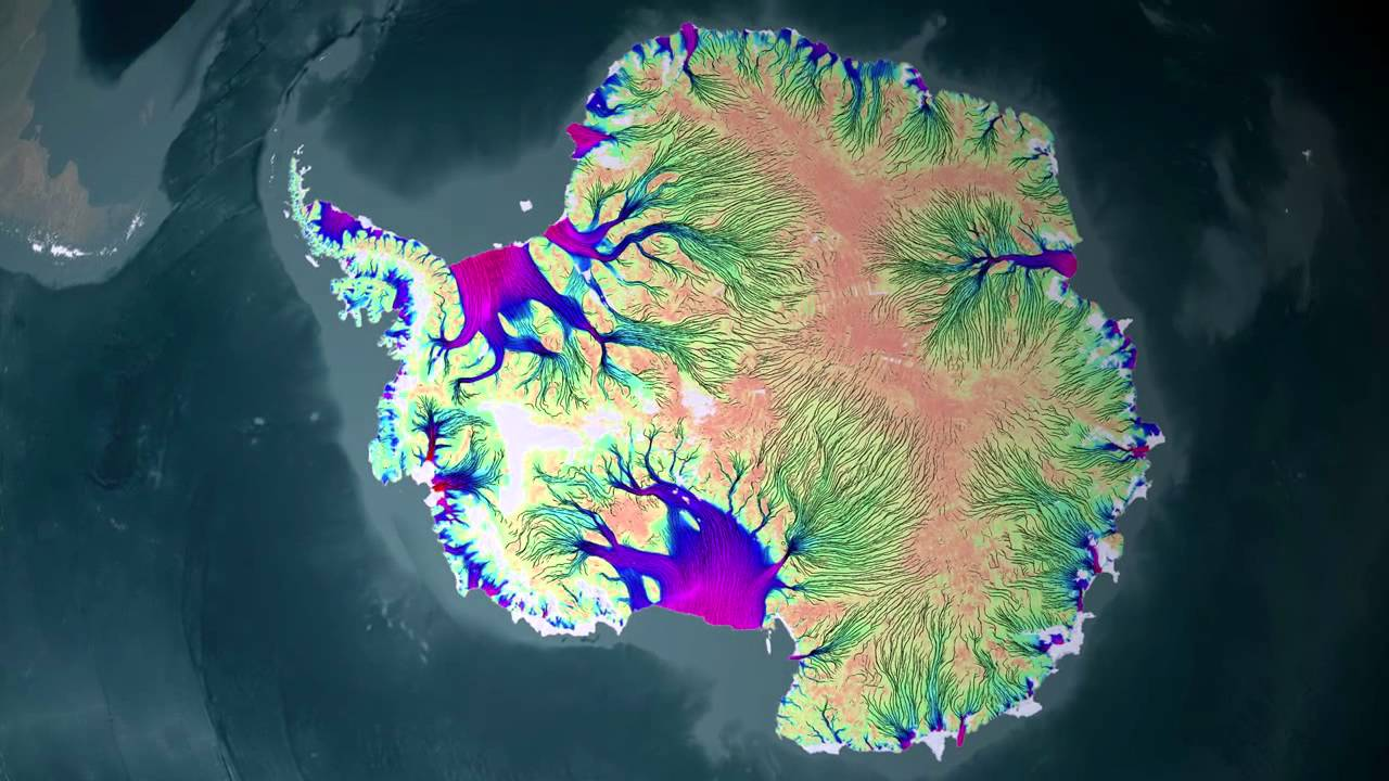 Nasa full map of antarctic ice flow 720p youtube gumiabroncs Images