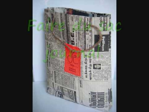 Souvent Sac en papier journal indienne - YouTube XH87