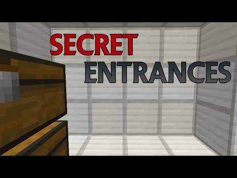 Minecraft - Secret Entrance Tutorial (Minecarts)
