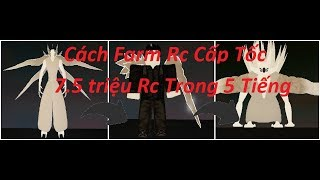 Super fast Rc Farm tips for 8 million Rc within 5 hours | Ro-Ghoul | Roblox