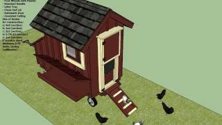 T100 - Chicken Coop Tractor Plans -  How To Build A Chicken Coop