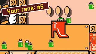 I REACHED TOP 5 in the NEW NINJI SPEEDRUNS (Big Shoes Gustin' in the Desert) — Super Mario Maker 2