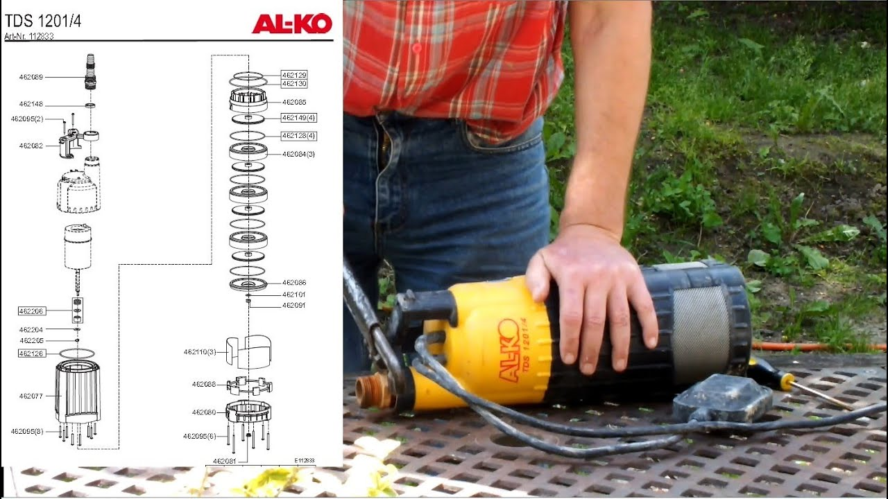 How to take apart a submersible pump