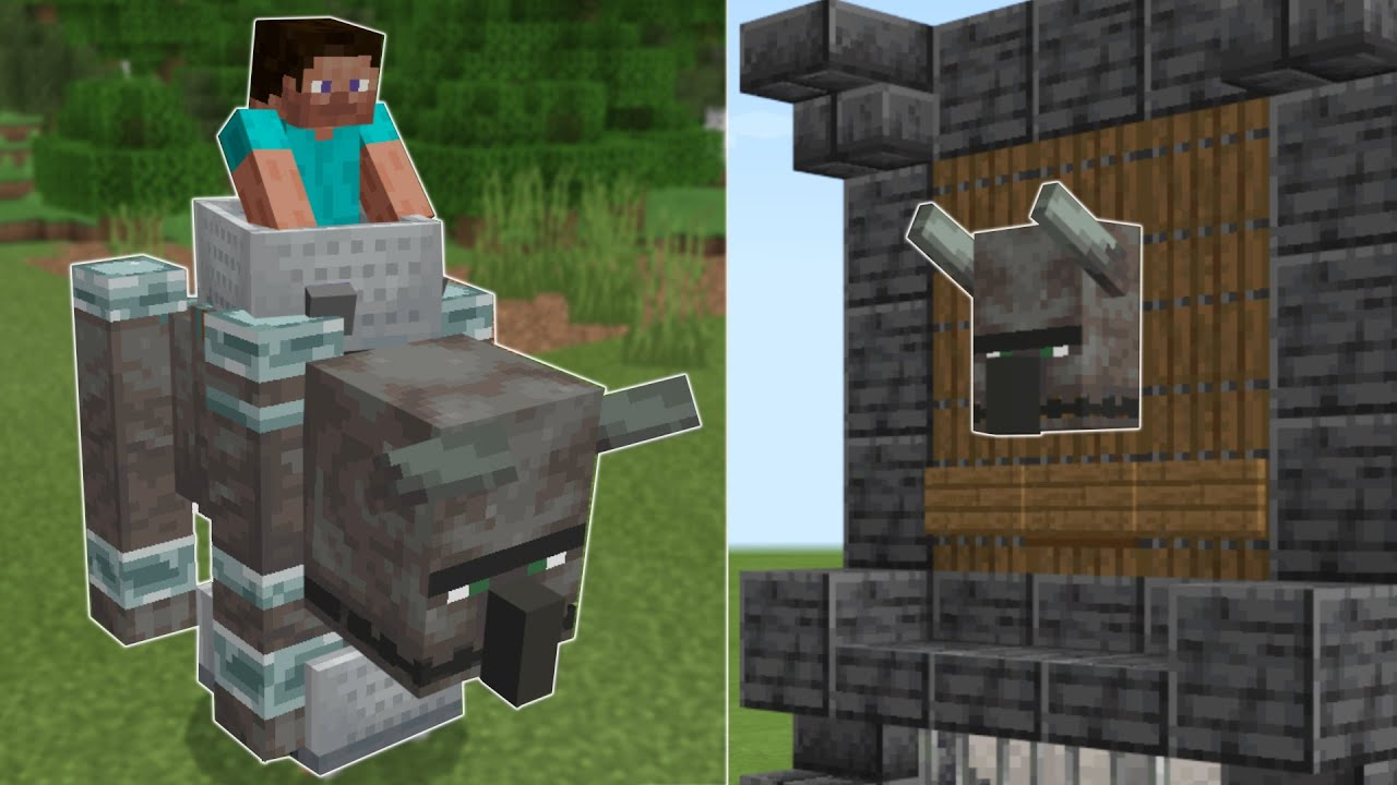✅Top 5 uses for the minecraft Ravager! 🦏