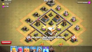 Clash of Clans TH5 WORST WAR ATTACK!!