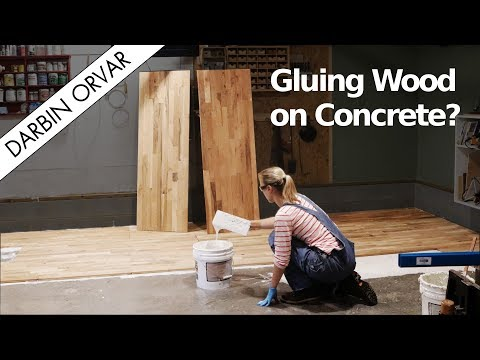 Can you Glue Hardwood Flooring To Concrete?