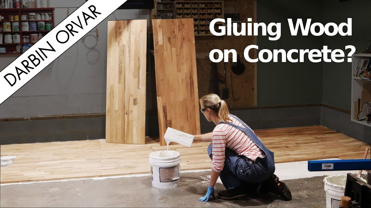 Can You Glue Hardwood Flooring To Concrete
