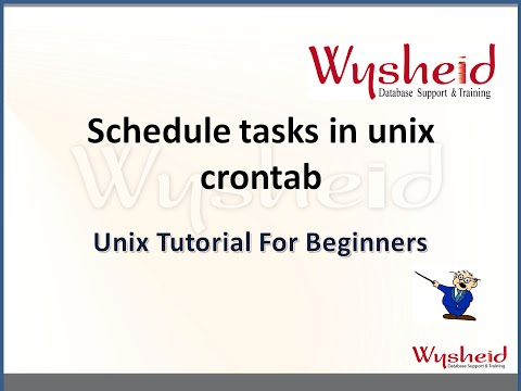 Scheduling tasks in Linux using crontab | scheduling jobs via cron job and at  in unix | Unix Videos