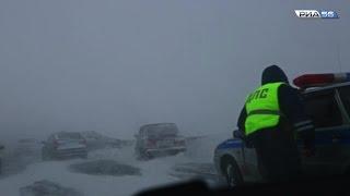 Снежная метель. Трасса Оренбург-Бузулук(В Оренбургской области продолжает действовать ограничение на передвижение по трассам для автомобилистов...., 2016-01-03T13:05:49.000Z)