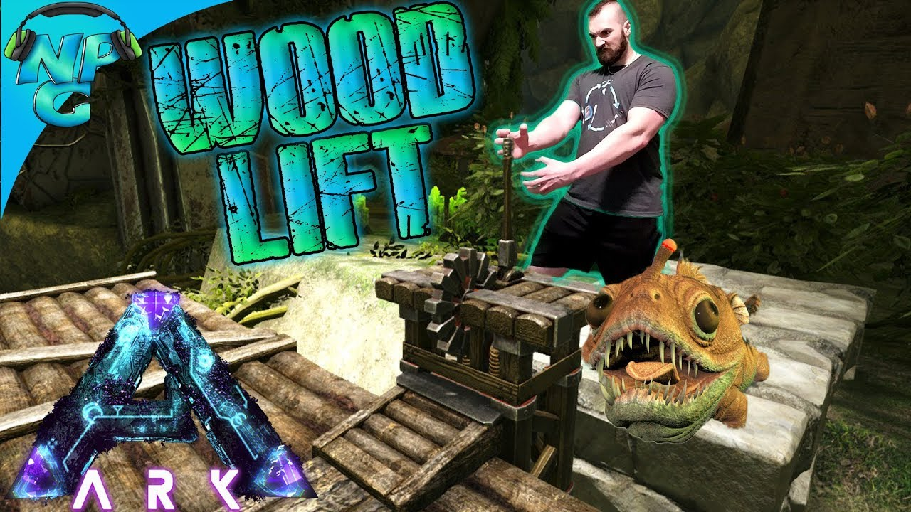 Ark Aberration Building The Man Powered Wooden Elevator And Lifting Dinos To The Base S1e6