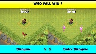 Dragon Vs Baby Dragon | Clash of Clans Competition