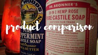 Dr. Bronners vs. Dr. Woods Castile Soap