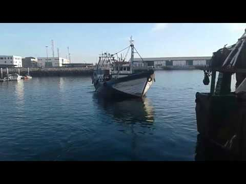 Moroccan Fishing Vessels Entering Port after Fishing Mission