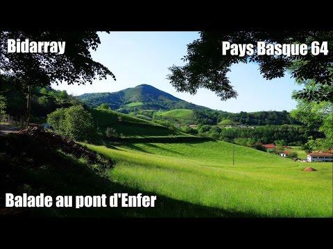 Balade au pont d'enfer depuis  Bidarray, Pays Basque (64).