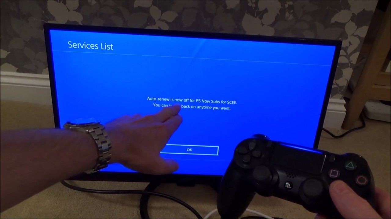 How To Cancel Playstation Now On The Ps4 Console Youtube