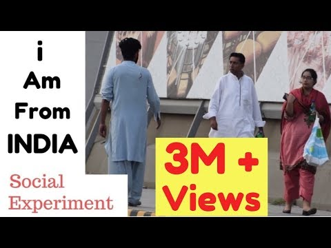I AM FROM INDIA | Social Experiment in Pakistan