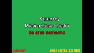 Los Plebes del Rancho de Ariel Camacho - No Lo Hice Bien - karaoke