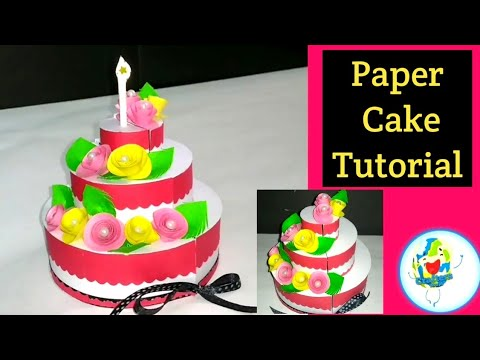 Paper Cake Tutorial / How to make Paper Cake for Explosion Box