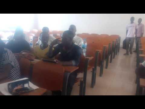 Physics university students at udom