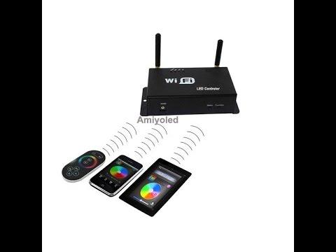 Controlador RGB wifi, controlar tiras de LED RGB con telefono(Amiyoled)