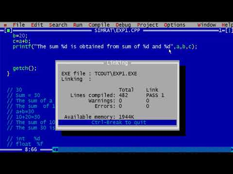 001. How to use printf for formatted printing