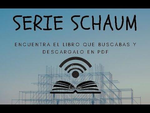 Descarga La Colección De Libros De La Serie Schaum En Español PDF - YouTube @tataya.com.mx 2021