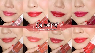 COLOURPOP GLOSSY LIP STAINS 💋 review + swatches!