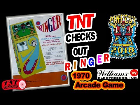 #1389 Williams RINGER Arcade Game at PINFEST 2018 Allentown TNT Amusements