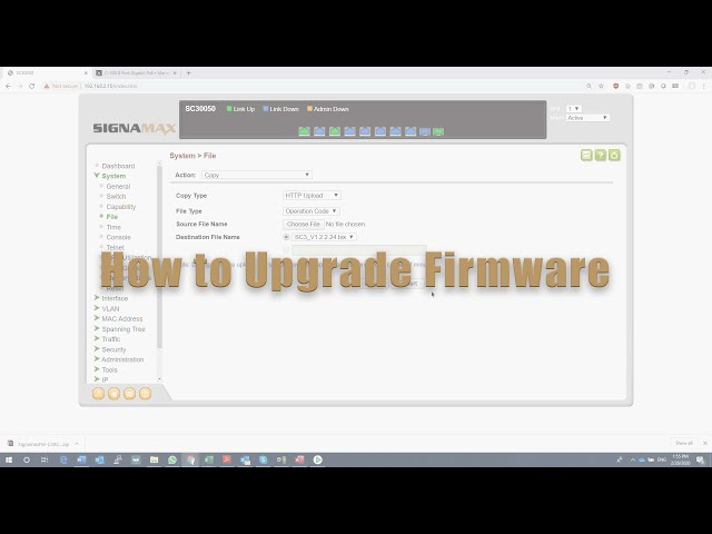 How to Upgrade Firmware on Signamax C-300 Series Switch