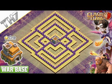NEW Town Hall 7 War Base 2019 | TH7 Base Layout - Clash Of Clans