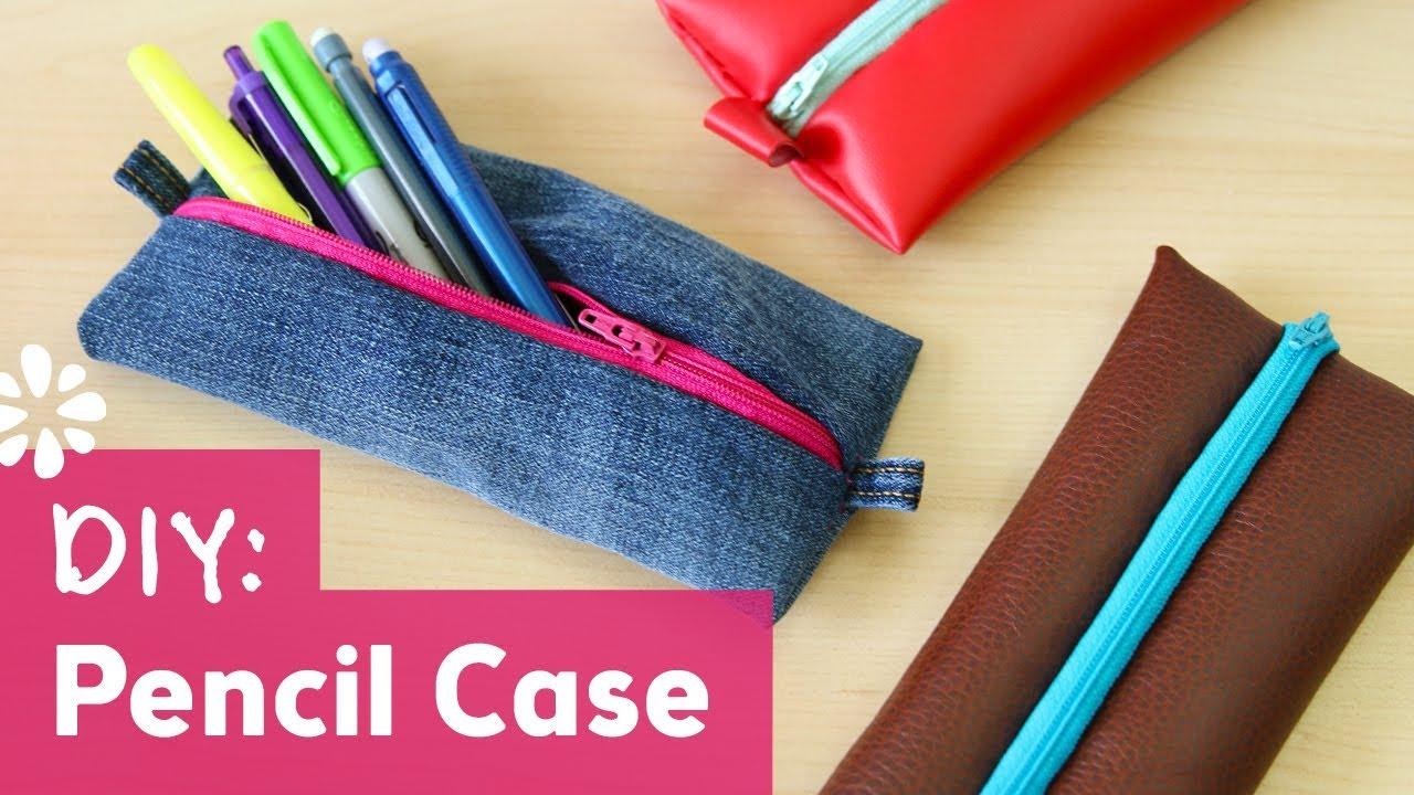 back to school diy pencil case with zipper sea lemon youtube